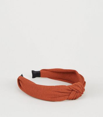Rust Knot Top Alice Band