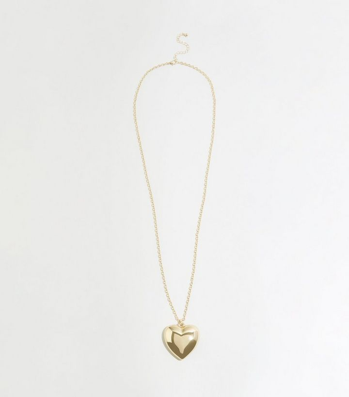 5846bd88d3a81 Gold Heart Pendant Chain Necklace Add to Saved Items Remove from Saved Items