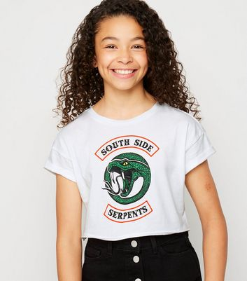 Girls White Riverdale South Side Slogan T-Shirt