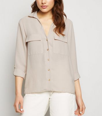 Stone Button Up Utility Shirt