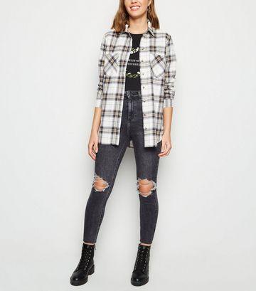 Black Washed High Waist Super Skinny Hallie Jeans