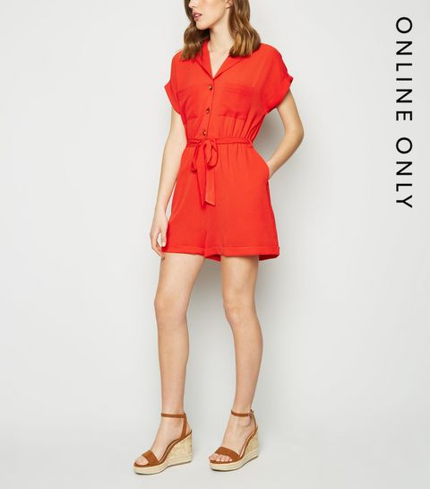 74d423e21aa Red Revere Collar Playsuit · Red Revere Collar Playsuit ...