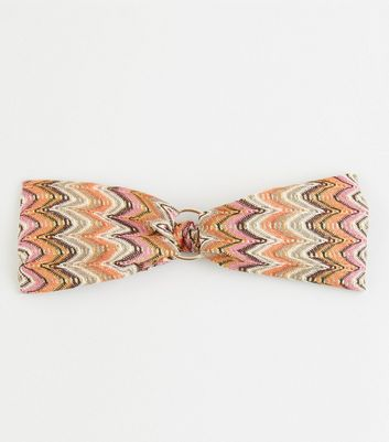 Multicoloured Woven Zig Zag Headband