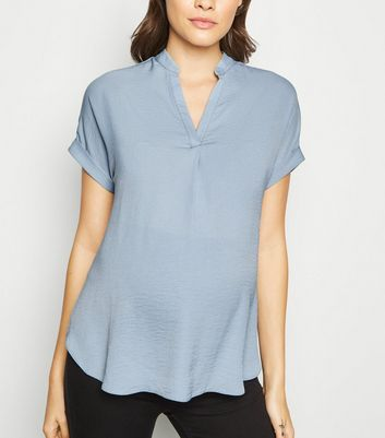 Maternity Pale Blue Overhead Shirt