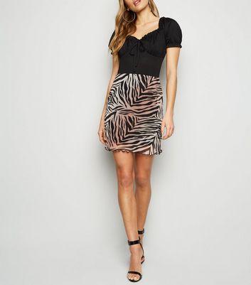 NEW LOOK-Noir Plissée Bardot Crop Top-Taille 14-Bnwt