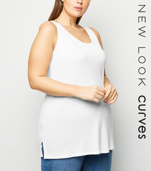 4ecfde8355169 ... Curves White Side Split Vest ...