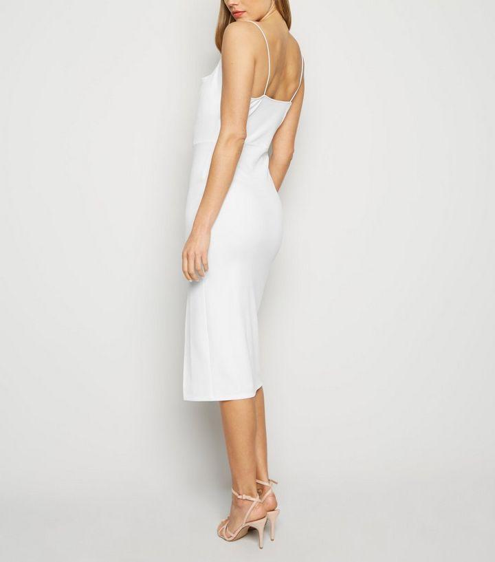 1dd2e31434b ... White Cowl Neck Side Split Midi Dress. ×. ×. ×. Shop the look