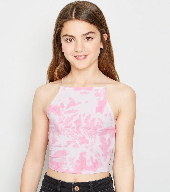 278b7196d02032 Bright Pink Tie Dye Cami Top