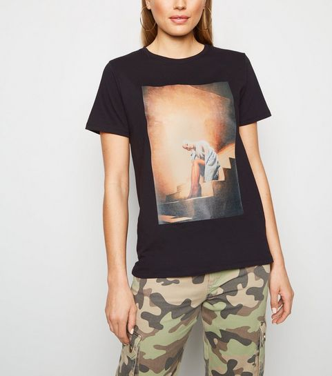 d67aaa5eac0 ... Black Ariana Grande Sweetener Stairs T-Shirt ...