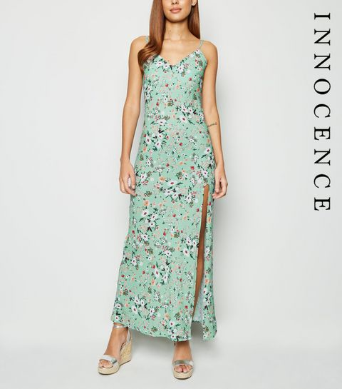 75e0fee69d98 ... Innocence Light Green Ditsy Floral Maxi Dress ...