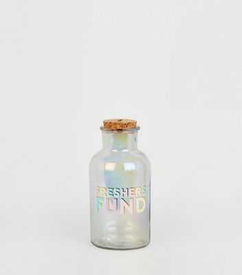 Clear Freshers Fund Money Slogan Jar