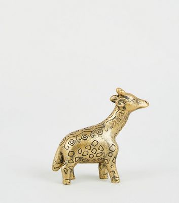 Gold Mini Giraffe Embossed Ornament