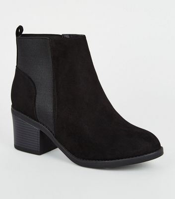 Wide Fit Black Suedette Chelsea Boots Add to Saved Items Remove from Saved Items