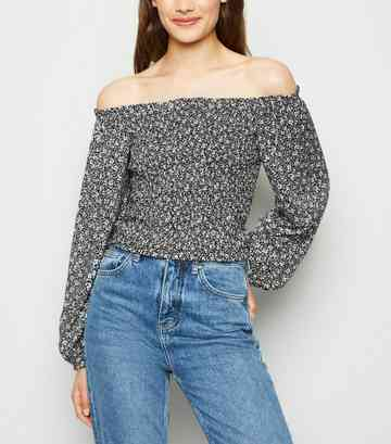 6de4347d Women's Bardot Tops | Off the Shoulder Tops | New Look