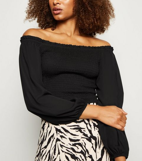6cba63ae54b781 Women's Bardot Tops | Off the Shoulder Tops | New Look
