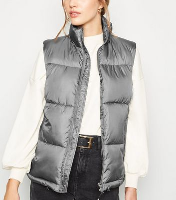 Pale Grey Puffer Gilet
