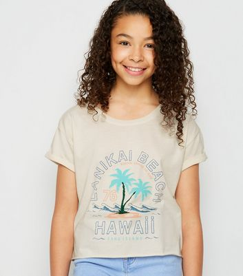 Girls Off White Hawaii Slogan T-Shirt