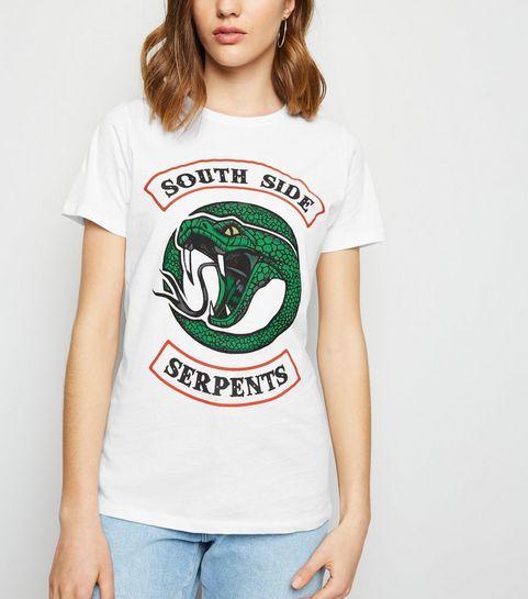 5228e07444bf4 ... White Riverdale South Side Slogan T-Shirt ...