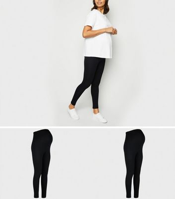 Maternité - Lot de 2 leggings légers noirs