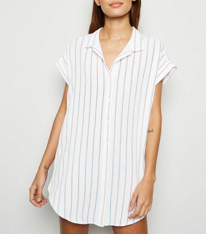 13afc8a41b9b6a Apricot White Stripe Shirt Dress | New Look