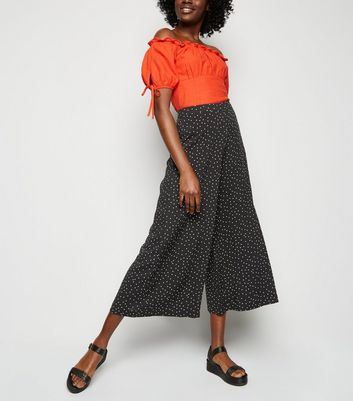 Black Spot Wide Leg Trousers