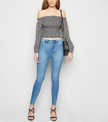 Blue High Waist Super Skinny Hallie Jeans