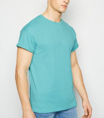 Mint Green Roll Sleeve T-Shirt