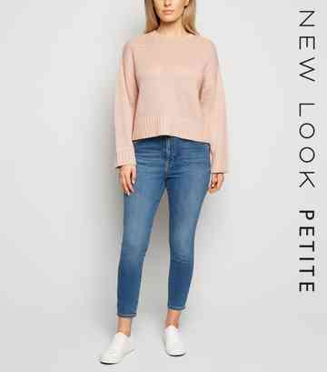 Petite Blue High Waist 'Lift & Shape' Skinny Jeans