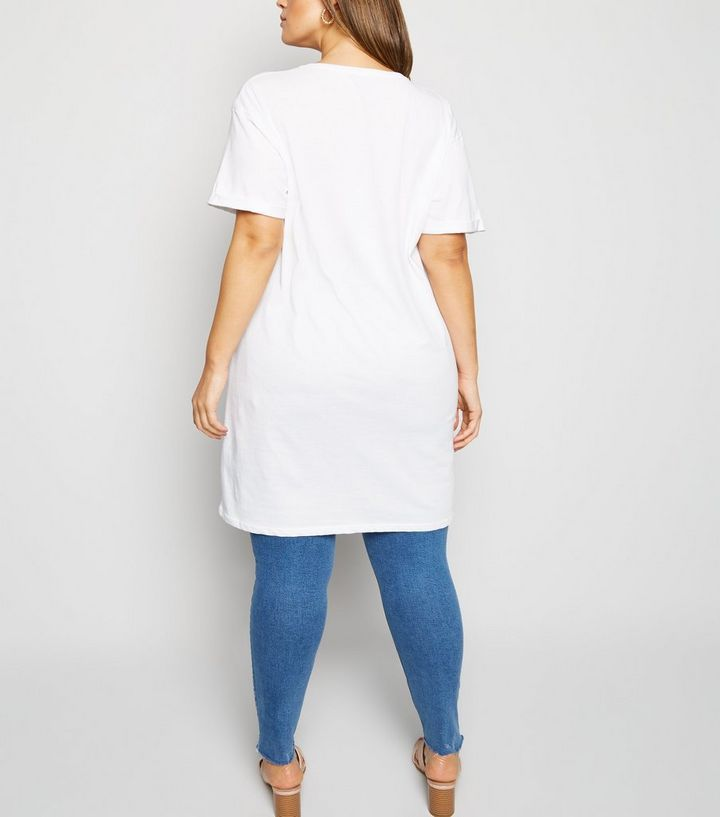 ef6c511867d2c ... Curves White Love Slogan Longline T-Shirt. ×. ×. ×. Shop the look