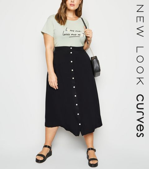 496db4dea8ce Plus Size Skirts   Plus Size Midi & Mini Skirts   New Look