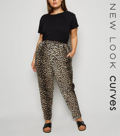 77ef1e9ffe0 ... Curves Brown Animal Print Joggers ...