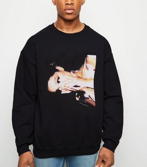71ddbf5ef71d4 ... Black Ariana Grande Photographic Print Sweatshirt ...
