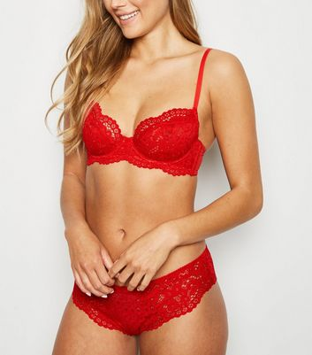 Red Lace Underwired Bra