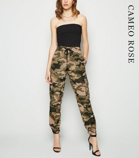 5e6601c120 ... Cameo Rose Green Camo Utility Trousers ...