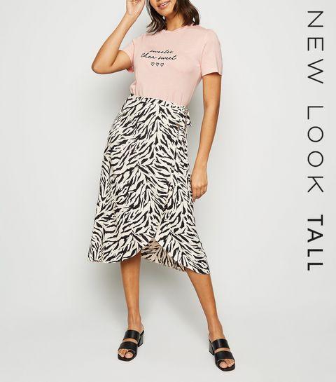 08292152a35 ... Tall Mid Pink Sweeter Than Sweet Slogan T-Shirt ...