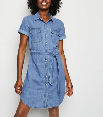 Tall Blue Denim Shirt Dress