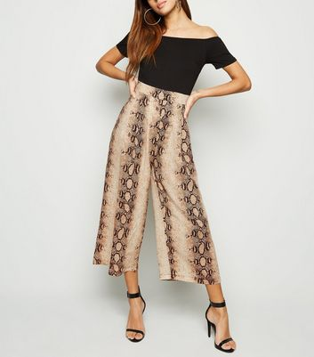 AX Paris Black Snake Print 2 in 1 Bardot Jumpsuit