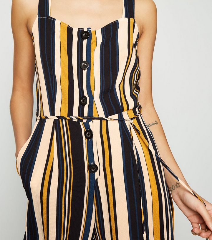 e20bfc027487cc ... AX Paris Blue Stripe Button Front Jumpsuit. ×. ×. ×. Shop the look