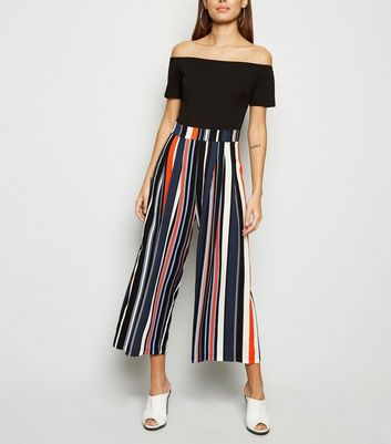 AX Paris Multicoloured Stripe Bardot Jumpsuit
