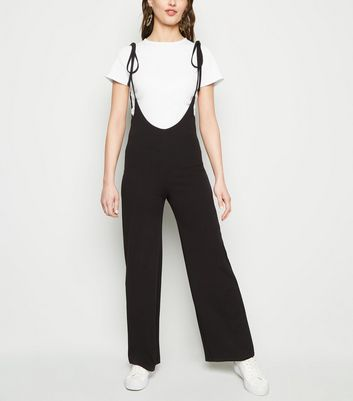 Cameo Rose Black Plunge Neck Jumpsuit and T-Shirt