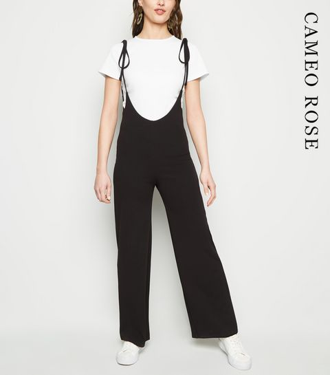 6355d04a35 ... Cameo Rose Black Plunge Neck Jumpsuit and T-Shirt ...