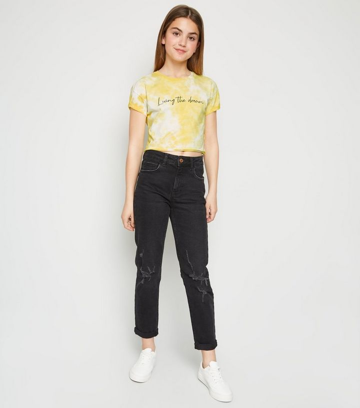 ec635289736 ... Girls Yellow Tie Dye Dream Slogan T-Shirt. ×. ×. ×. Shop the look