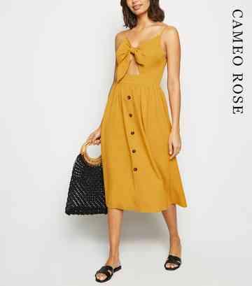 07d2d086e718 Yellow Midi Dresses   Bright & Mustard Midis   New Look