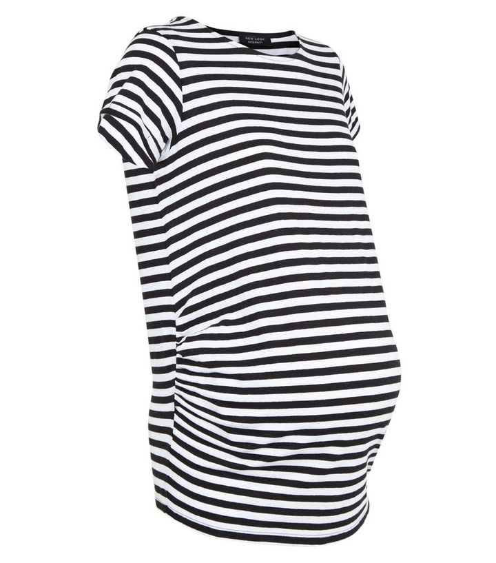 2b52c4365156e ... Maternity Black Stripe 1/2 Sleeve T-Shirt. ×. ×. ×. Shop the look