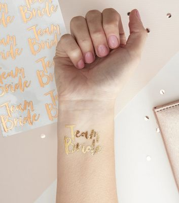 Ginger Ray Rose Gold Temporary Tattoos