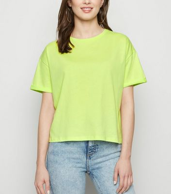 Light Green Boxy Crop T-Shirt