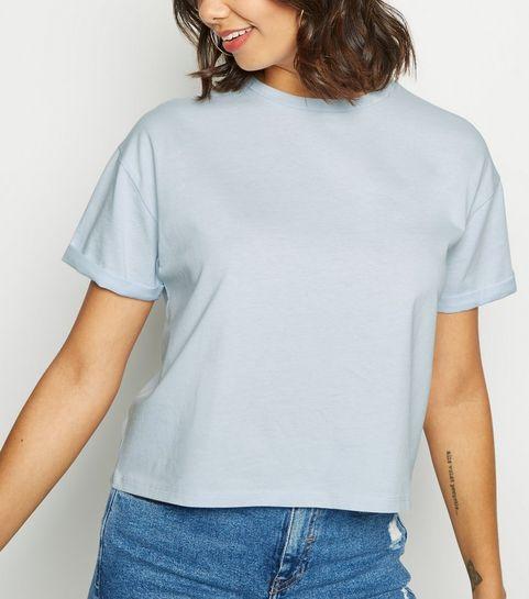 d21fb28bbb409 ... Pale Blue Boxy Crop T-Shirt ...