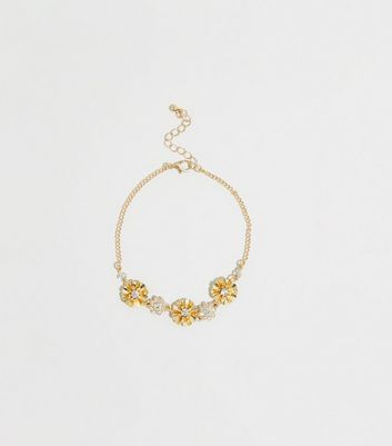 Gold Chain Flower Anklet