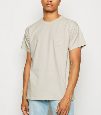 Stone Washed Sun Embroidered T-Shirt