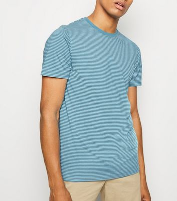 Bright Blue Fine Stripe T-Shirt